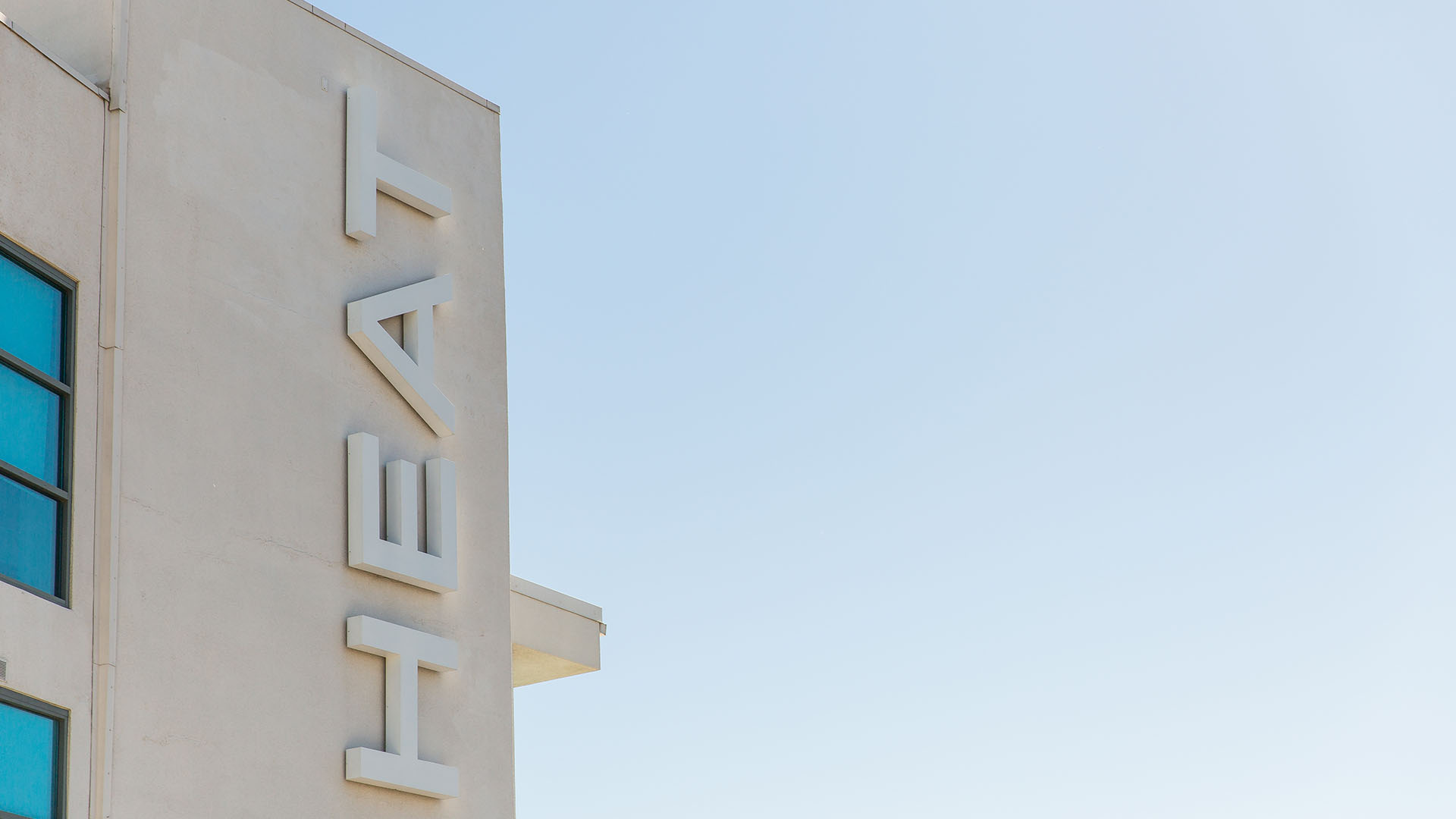View of Heat sign on the hotel